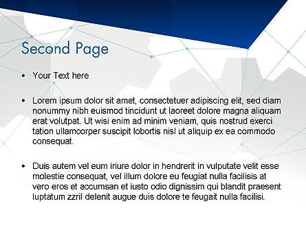Cogwheels and Thin Lines PowerPoint Template Slide 2