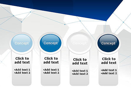 Cogwheels and Thin Lines PowerPoint Template Slide 5