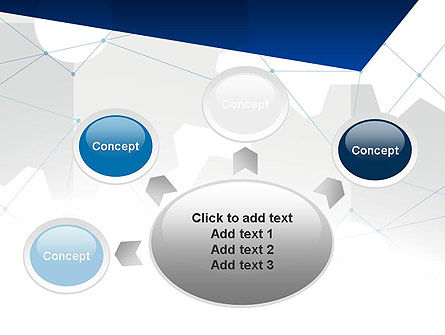 Cogwheels and Thin Lines PowerPoint Template Slide 7