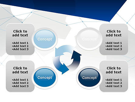 Cogwheels and Thin Lines PowerPoint Template Slide 9