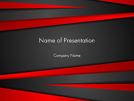 Cut Into Pieces Abstract PowerPoint Template
