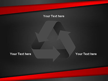 Cut Into Pieces Abstract PowerPoint Template Slide 10