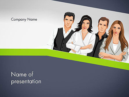 Young People Illustration PowerPoint Template, 13845, People — PoweredTemplate.com