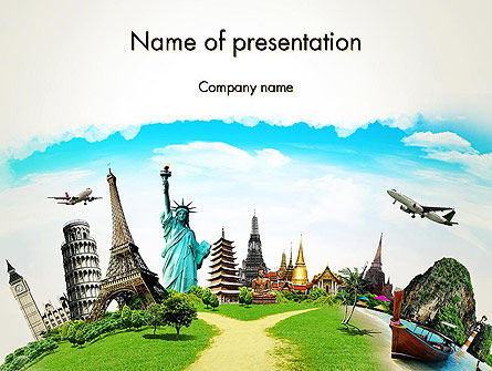Travel The World PowerPoint Template, 13846, Careers/Industry — PoweredTemplate.com