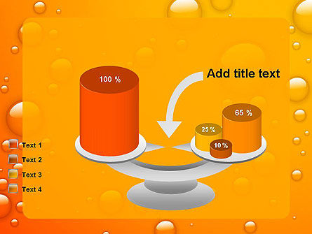Orange Water Bubbles PowerPoint Template Slide 10