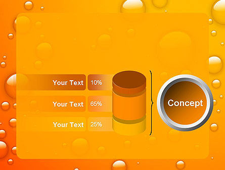 Orange Water Bubbles PowerPoint Template Slide 11