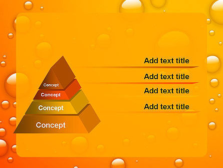 Orange Water Bubbles PowerPoint Template Slide 12
