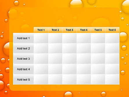 Orange Water Bubbles PowerPoint Template Slide 15