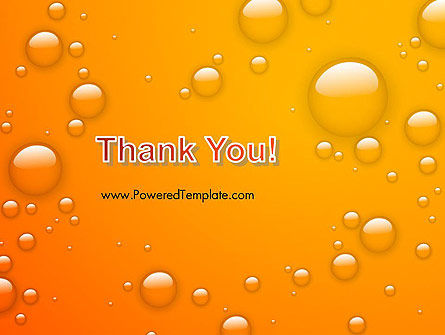 Orange Water Bubbles PowerPoint Template Slide 20