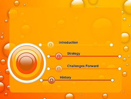 Orange Water Bubbles PowerPoint Template, Slide 3, 13847, Food & Beverage — PoweredTemplate.com