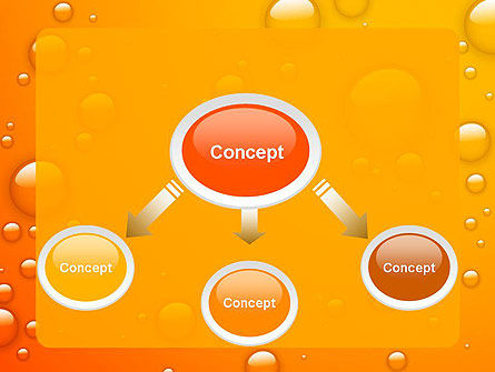 Orange Water Bubbles PowerPoint Template, Slide 4, 13847, Food & Beverage — PoweredTemplate.com