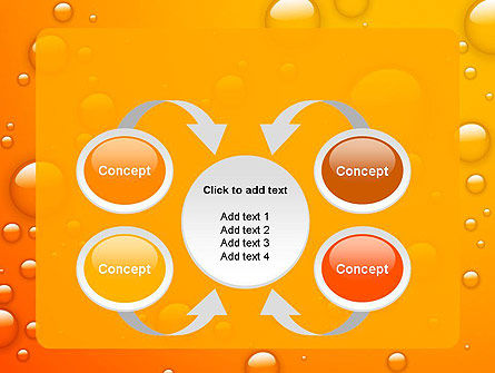 Orange Water Bubbles PowerPoint Template Slide 6