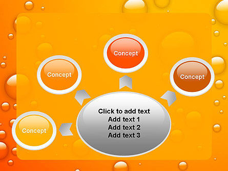 Orange Water Bubbles PowerPoint Template Slide 7