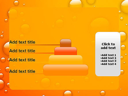 Orange Water Bubbles PowerPoint Template Slide 8