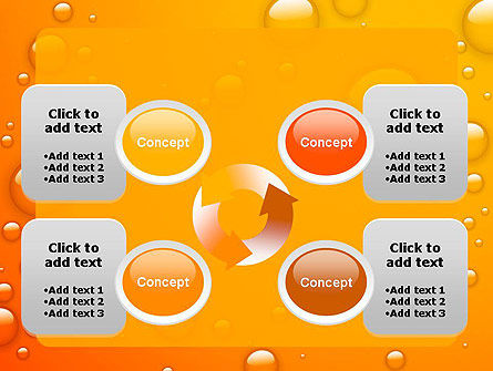 Orange Water Bubbles PowerPoint Template Slide 9