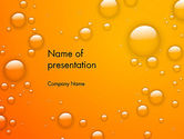 Orange Water Bubbles PowerPoint Template#1