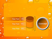 Orange Water Bubbles PowerPoint Template#11