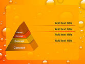 Orange Water Bubbles PowerPoint Template#12