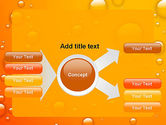 Orange Water Bubbles PowerPoint Template#14