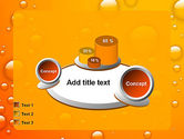 Orange Water Bubbles PowerPoint Template#16