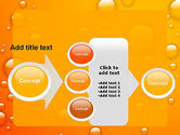 Orange Water Bubbles PowerPoint Template#17