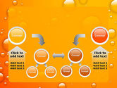 Orange Water Bubbles PowerPoint Template#19