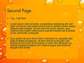 Orange Water Bubbles PowerPoint Template#2