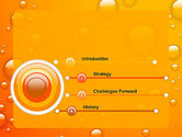 Orange Water Bubbles PowerPoint Template#3