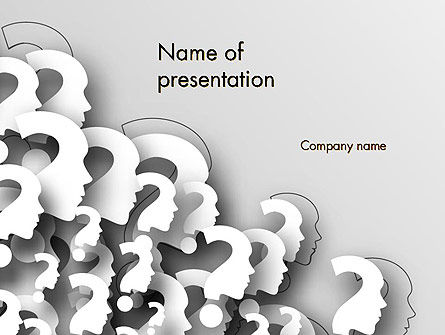 Faces With Question Marks PowerPoint Template, 13848, Business Concepts — PoweredTemplate.com