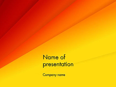 Gradient Yellow to Red PowerPoint Template