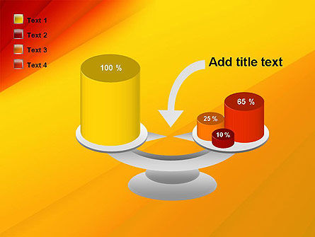 Gradient Yellow to Red PowerPoint Template Slide 10