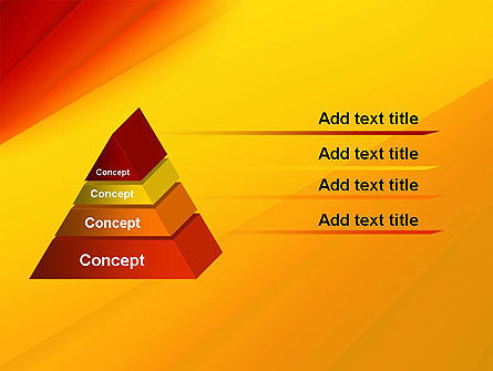Gradient Yellow to Red PowerPoint Template Slide 12