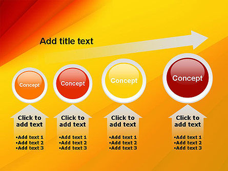 Gradient Yellow to Red PowerPoint Template Slide 13