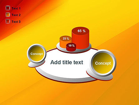 Gradient Yellow to Red PowerPoint Template Slide 16