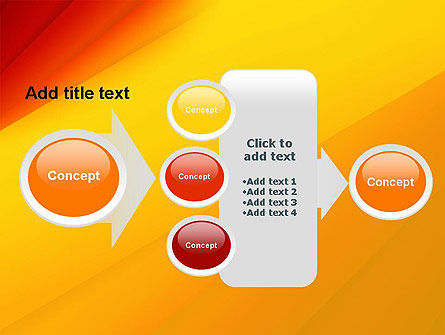 Gradient Yellow to Red PowerPoint Template Slide 17