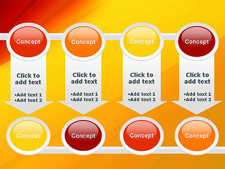 Gradient Yellow to Red PowerPoint Template Slide 18