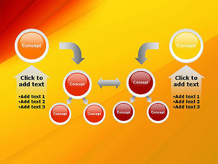 Gradient Yellow to Red PowerPoint Template Slide 19