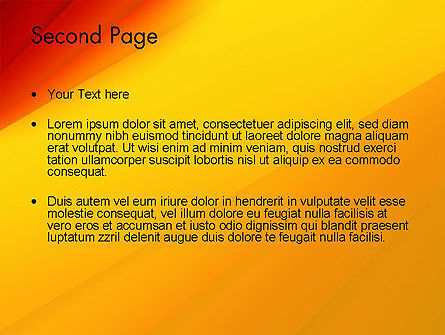 Gradient Yellow to Red PowerPoint Template Slide 2