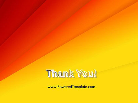 Gradient Yellow to Red PowerPoint Template Slide 20