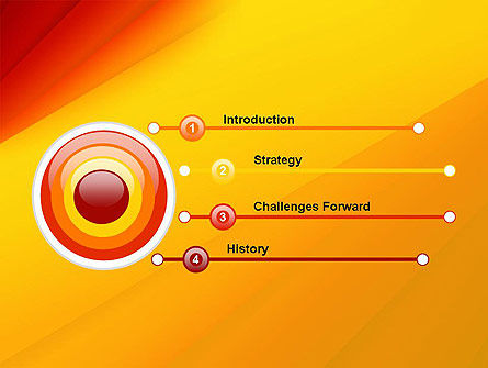 Gradient Yellow to Red PowerPoint Template Slide 3