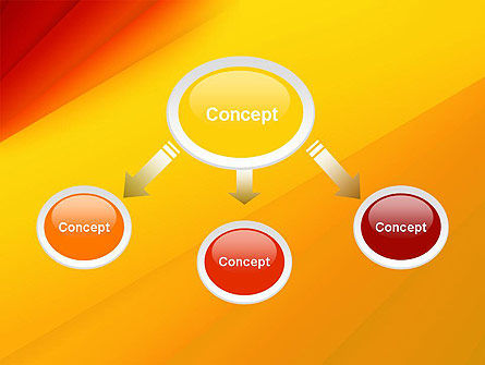 Gradient Yellow to Red PowerPoint Template Slide 4