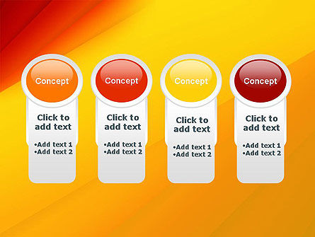 Gradient Yellow to Red PowerPoint Template Slide 5