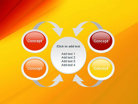 Gradient Yellow to Red PowerPoint Template Slide 6