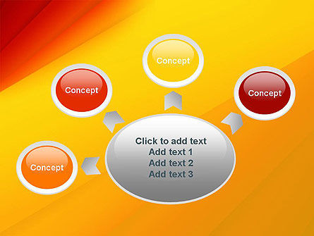 Gradient Yellow to Red PowerPoint Template Slide 7