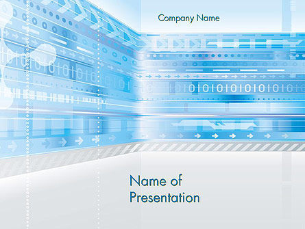 Digitally Generated PowerPoint Template, 13850, Abstract/Textures — PoweredTemplate.com