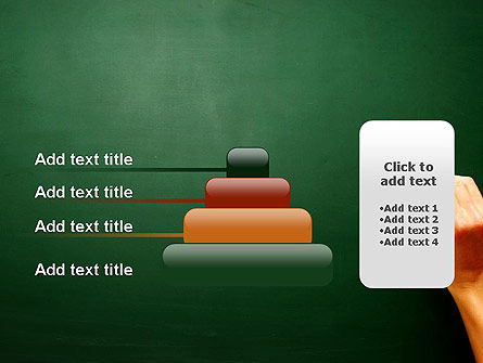 Empty Blackboard with Hand and Chalk PowerPoint Template Slide 8