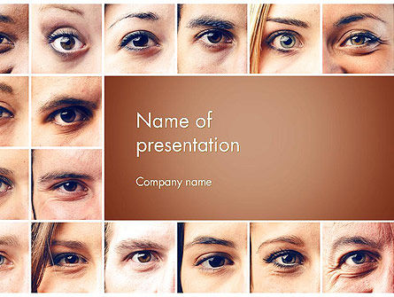 Peoples Eyes PowerPoint Template, 13853, People — PoweredTemplate.com