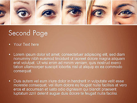 Peoples Eyes PowerPoint Template, Slide 2, 13853, People — PoweredTemplate.com