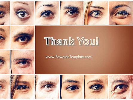 Peoples Eyes PowerPoint Template Slide 20