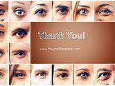 Peoples Eyes PowerPoint Template#20